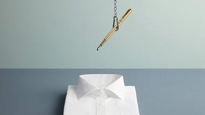 下一秒令人焦躁期待照片集..鋼筆水要滴在襯衫上啦!