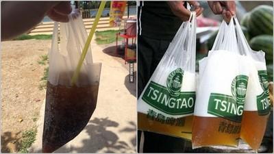 泰國這樣裝可樂,如果破洞是要我嘟嘴去吸嗎?( ̄3 ̄)