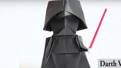 動作摺紙做黑武士!教學影片第15分鐘有黑暗力量