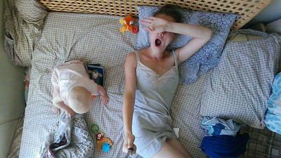 當媽的一天是怎樣?她用自拍紀錄母親辛勞