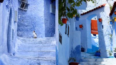 藏在山脈中的摩洛哥藍色小鎮,推薦給喜歡淡淡憂傷的你