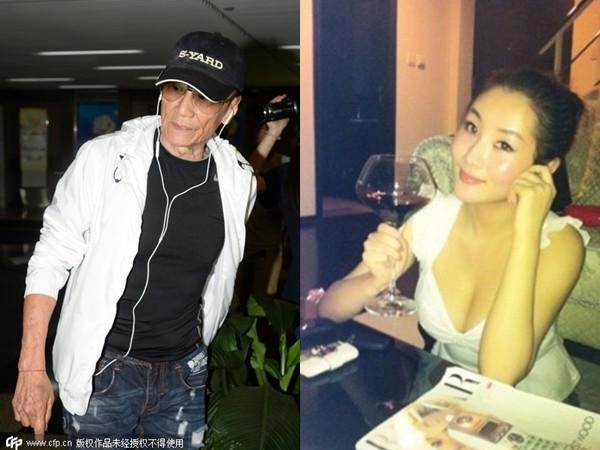 79歲謝賢陪小49歲女友Coco逛街買衣服,護花喝斥狗仔。(圖/CFP/翻攝自微博)