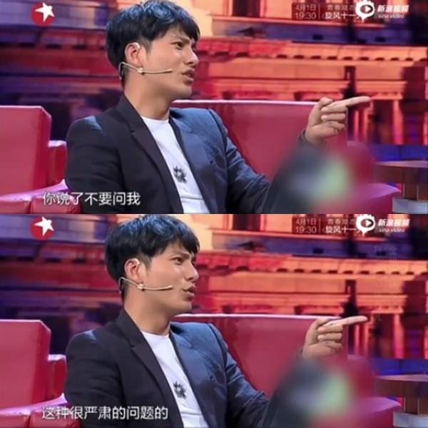 陳坤首談14歲獨子生母謎團 上節目被逼問當場變臉!(圖/翻攝自《新浪娛樂》)