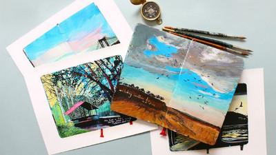 市售照片明信片膩了?購買手繪款讓旅遊更有溫度