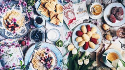 粉嫩色系野餐趴!春天就是該帶朵花和一盤少女心食物