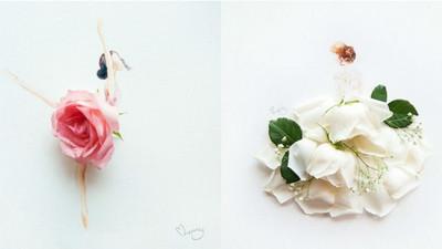 極雅藝術!她用花瓣做禮服綻放花朵第二春