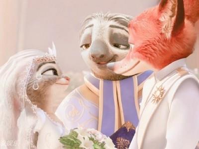 「哈尼CP」真的結婚了!《動物方城市》樹懶變證婚人