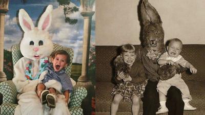 超像殺人魔的復活節兔子…這要小孩不哭也難吧?