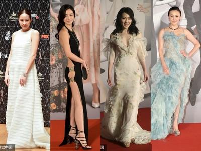 林嘉欣白衣飄孕味 竟贏了紅毯5辣奪金像獎最佳服裝!