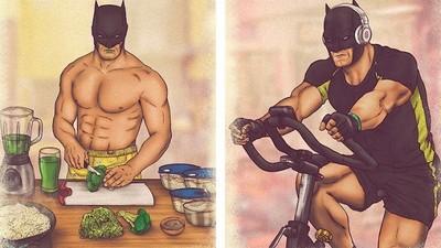 蝙蝠俠+超人+神力女超人的日常,這算是3P嗎?