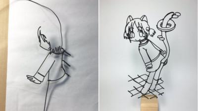 用迴紋針折出漫畫主角,結果書桌上多了好多分心物