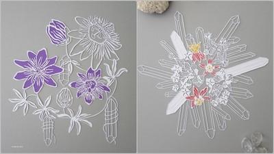 花朵+水晶=?超療癒剪紙藝術美到不行