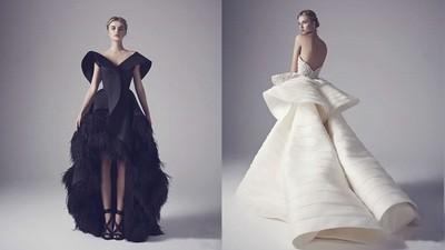 想以獨特霸氣走紅毯「前衛黑婚紗、立體白婚紗」你選?