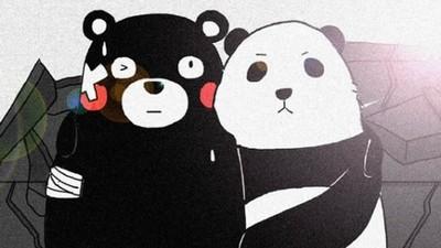 地震後的繪畫送暖 貓熊攜手熊本熊鼓舞災民