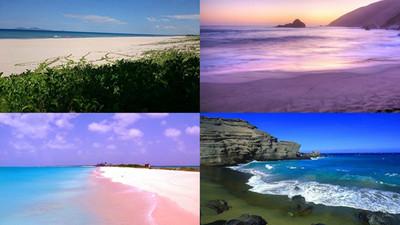 純天然特「色」沙灘!好想在紫羅蘭沙灘上披白紗❤