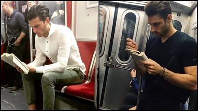 捷運上看書的猛男,混雜著汗水和書卷味令人陶醉