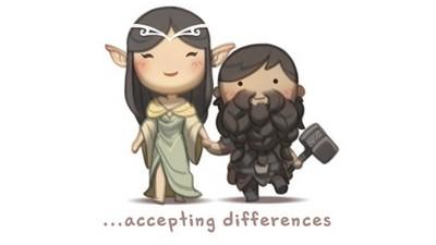 還在迷惘不懂愛?人夫插畫告訴你「愛是包容彼此不同」