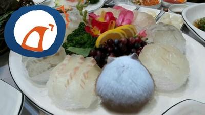 肚子好餓喔~但桌上生魚片怎麼越看越像「倉鼠」勒><
