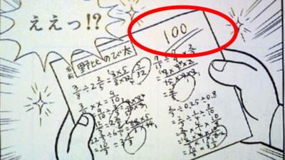 大雄靠實力拿過100分的數學考卷!試試你能拿幾分?