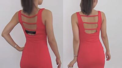 穿貼身露背洋裝總露出內衣痕?4刀改造舊內衣拯救性感