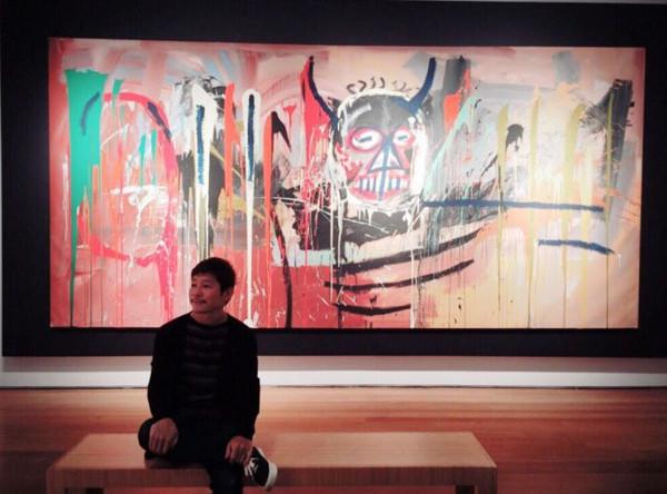 日本網購「ZOZOTOWN」社長前澤友作,以約18億台幣,購買美國藝術家尚·米榭·巴斯奇亞畫作。(圖/翻攝自前澤友作twitter)