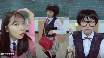 韓妞校服時代變化!姊也想穿「太妹裝」站三七步看看