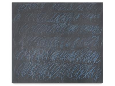藍蠟筆塗鴉畫圈 要價逾12億台幣