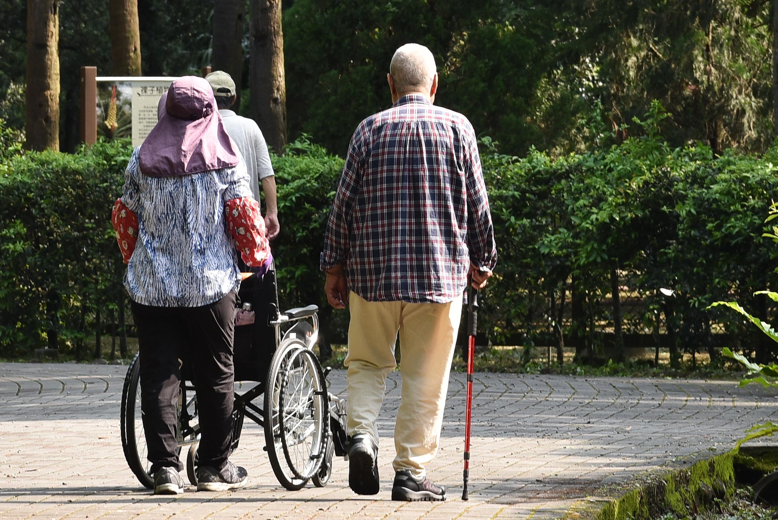 人口老化,長照,退休生活,老人。(圖/記者李毓康攝)