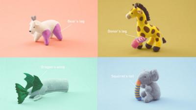 日本玩偶「器捐醫院」 熊換上猴子手臂後超有個性!