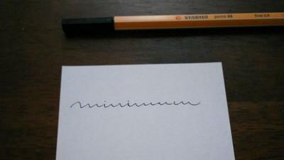 英文草寫高手請進!你看的出來這是什麼單字嗎>3<