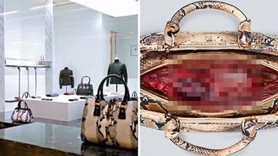 獵奇注意!皮包打開全是血肉..顧客看著抽動都嚇哭了