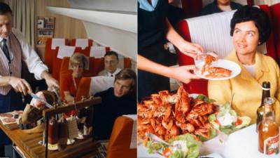 北歐航空老照片展~光看餐點覺得以前搭飛機都是有錢人