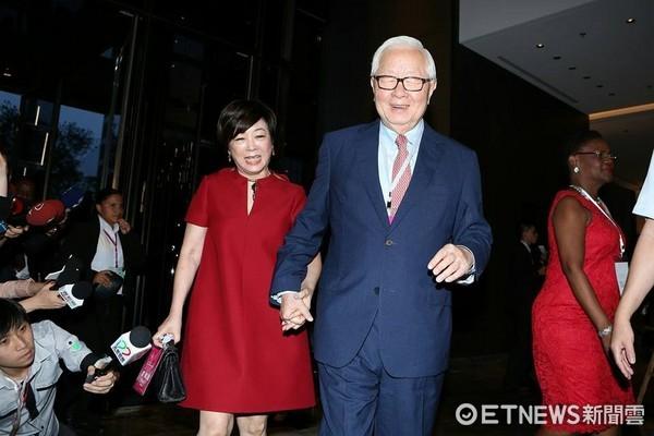 520總統就職國宴,台積電董事長張忠謀與妻子張淑芬到場。(圖/記者李鍾泉攝)