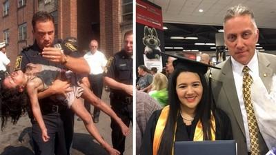 18年前火場中救出小女孩,今年參加她的大學畢業典禮