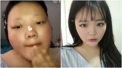 胖妹→網紅,這化妝根本邪術等級,嚇死寶寶了