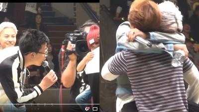 見小朋友怯場,G-Dragon立馬「無尾熊抱」成員萌化全場