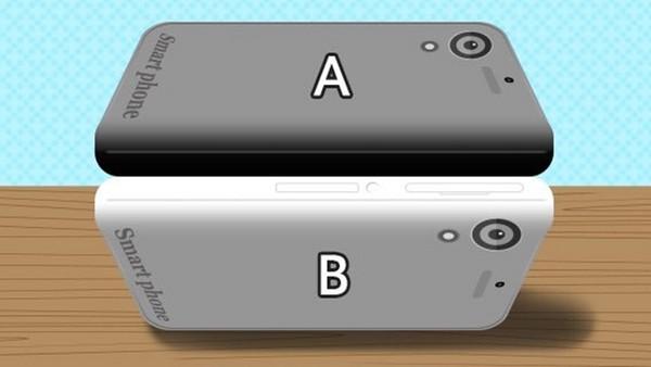 這兩支手機的顏色不一樣?請做這個動作以後再看一次