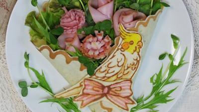 想玩鳥鳥怎麼辦?Σ( ° ∇ °)就包進可麗餅裡吃掉吧