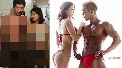 韓國情侶150天從肥宅變肌肉狂人...少騙了根本不同人吧?