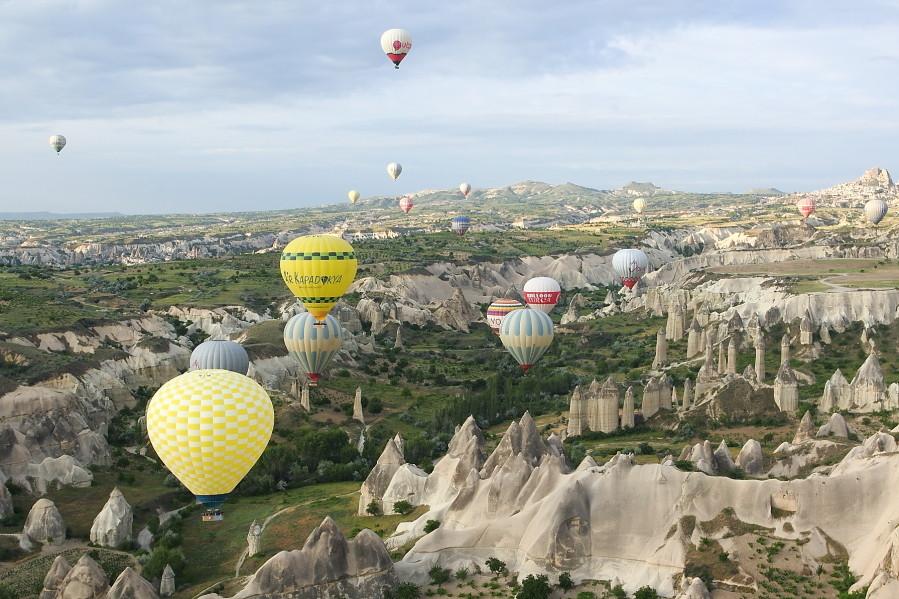 土耳其卡帕多其亞熱氣球。(圖/記者陳睿中攝)