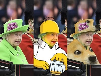 網友瞎PS又來了!誰叫英國女王穿了草地綠的衣服..