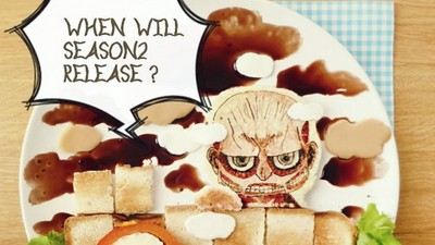 將吐司玩出動漫臉,巨人要推倒我的吐司牆啦!救命啊~