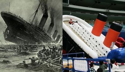 鐵達尼沈船悲劇,日本人將它昇華為歡樂滑梯遊戲...