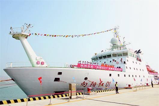 中國海洋科考船「向陽紅01」入列 探測深度達10公里。(圖/翻攝自新華社)