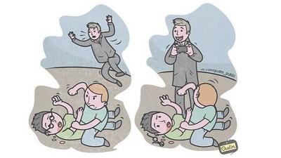 看到打架先拍照再說!諷刺插畫控訴「這世界怎麼了」