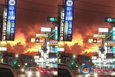 「火燒雲」美景 網友:超壯觀!