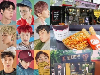 愛麗好幸福!怕粉絲會餓著,EXO成員輪流備餐車餵食中