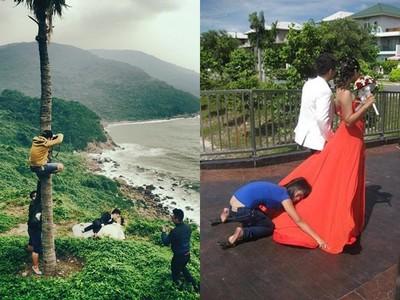 美到不科學婚紗照背後…多虧幕後人員「賣命」拍攝QQ