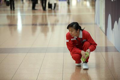 中日混血大媽掃出全球最乾淨機場