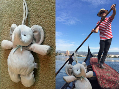 兒子搞丟玩偶超自責 爸媽跪求PS:大象只是環遊世界了